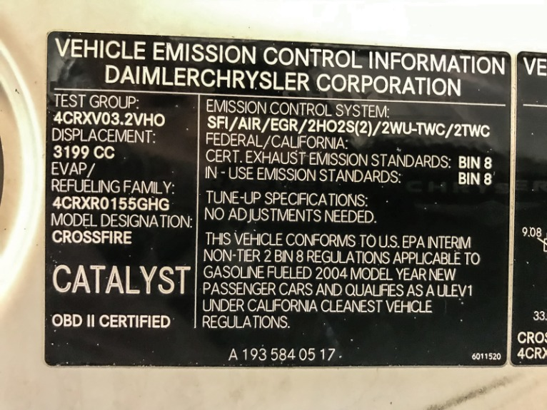 Used 2004 Chrysler Crossfire Base
