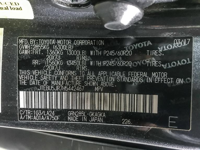 Used 2017 Toyota 4RUNNER SR5PREMLTD Limited
